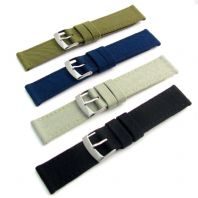 CORDURA Fabric Watch Strap Leather Lining 4 Colours 18mm - 24mm
